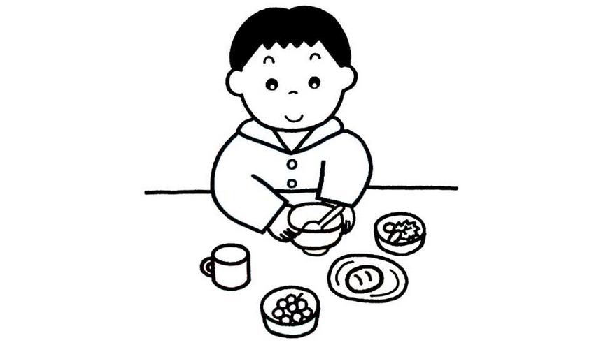 吃饭简笔画-漫画 头像 550