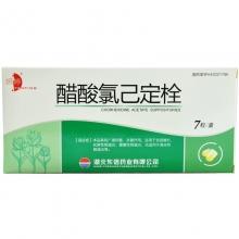 东信药业 醋酸氯己定栓 20毫克*7枚