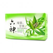 六神 绿茶+甘草清凉香皂 125克