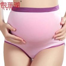 银珊瑚 孕妇环型托腹高腰内裤 XL