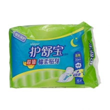 护舒宝 棉柔贴身夜用卫生巾 5片280mm (商品有效期至18.10.16)
