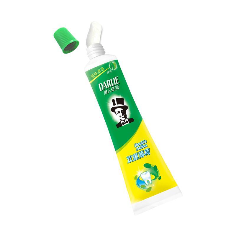 黑人 双重薄荷牙膏
