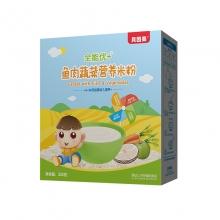 贝因美 全能优+婴儿米粉鱼肉蔬菜营养米粉 325克